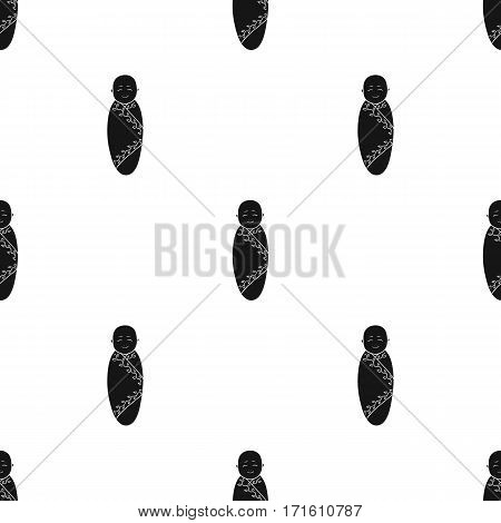 Infant icon in black style isolated on white background. Baby born pattern vector illustration.