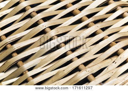 fragment of a wattled basket close up