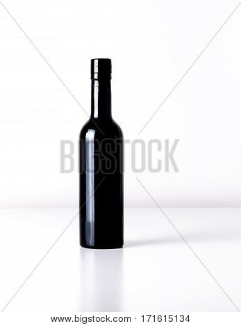 black bottle perfect for oil, wine, vinegar