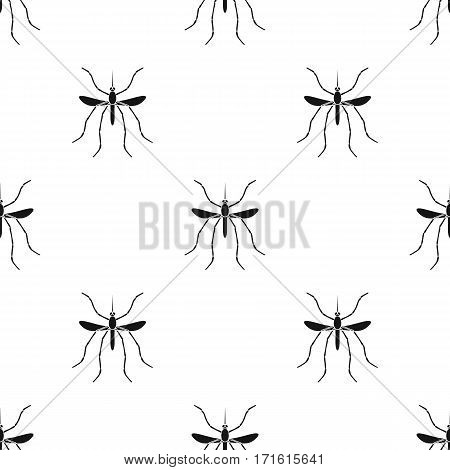 Mosquito icon in black design isolated on white background. Insects pattern stock vector illustration.