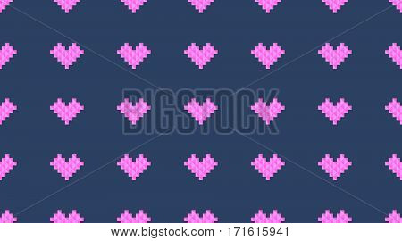 vector seamless pattern of geometric hearts, minimalistic texture