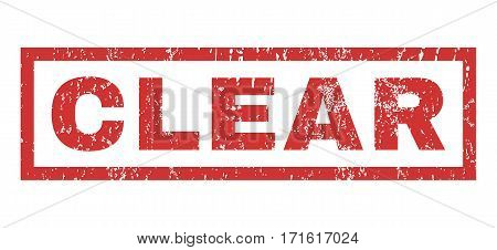Clear text rubber seal stamp watermark. Tag inside rectangular banner with grunge design and dirty texture. Horizontal vector red ink emblem on a white background.