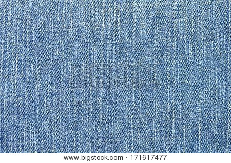 Closeup blue jeans cloth texture as background