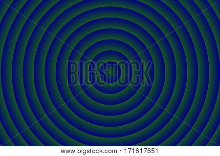 Illustration of dark blue and dark green concentric circles