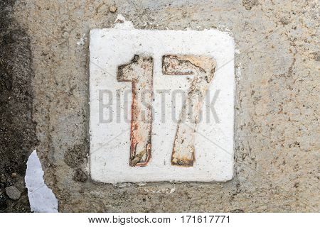 The Digits With Concrete On The Sidewalk 17