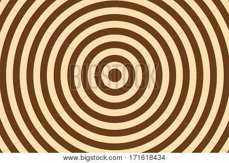 Illustration of brown and vanilla colored concentric circles
