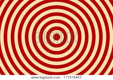 Illustration of red and vanilla colored concentric circles