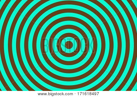 Illustration of cyan and brown concentric circles