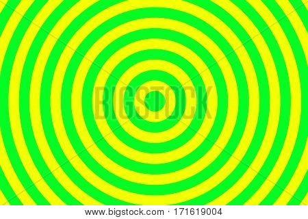 Illustration of green and yellow concentric circles