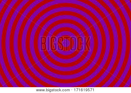 Illustration of purple and red concentric circles
