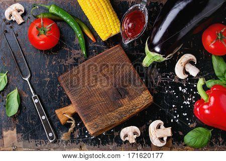 Bbq Vegetables Background