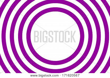 Illustration of purple and white concentric circles with space in the middle