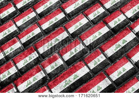 Irak Flag Urban Grunge Pattern