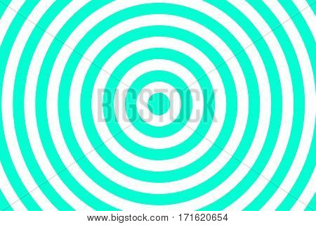 Illustration of cyan and white concentric circles