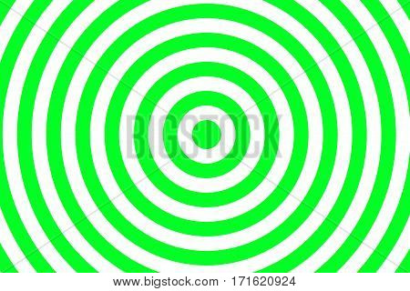 Illustration of green and white concentric circles