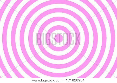 Illustration of pink and white concentric circles