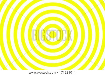 Illustration of yellow and white concentric circles