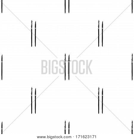 Stone spears icon in black style isolated on white background. Stone age pattern vector illustration.