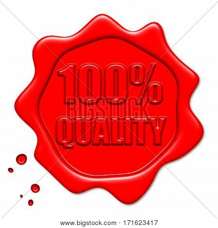 100% Quality Red Wax Seal high quality and high resolution digitally generated image