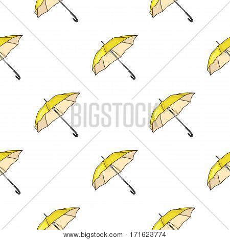 Parasol icon in cartoon style isolated on white background. Golf club symbol vector illustration.