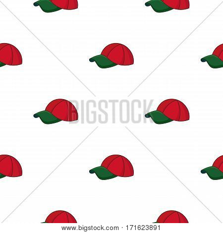 Golf cap icon in cartoon style isolated on white background. Golf club symbol vector illustration.