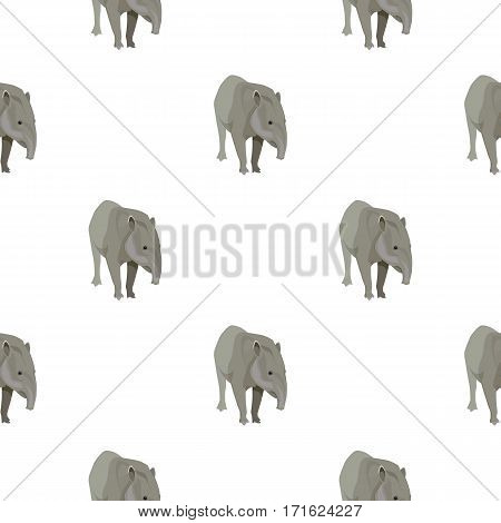 Mexican tapir icon in cartoon style isolated on white background. Mexico country pattern vector illustration.