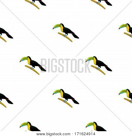 Mexican keel-billed toucan icon in cartoon style isolated on white background. Mexico country pattern vector illustration.