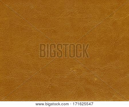 Orange Color Leather Texture.