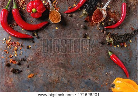 Spicy Background With Chili Peppers