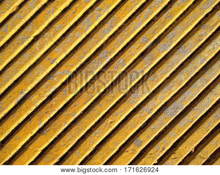 Image of yellow Concrete Wall with Stripes
