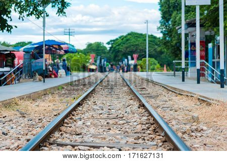 Beautiful Landscape Of Railroad In Summer Go To Forest