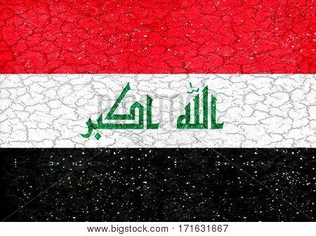 Irak Grunge Style National Flag