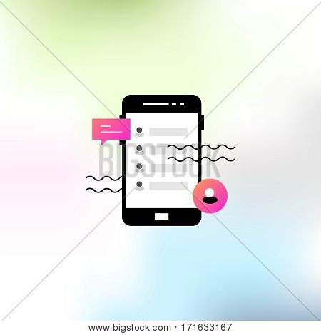 Vector illustration on the theme of mobile applications