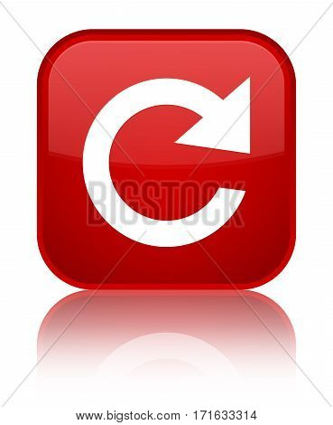 Reply Rotate Icon Shiny Red Square Button