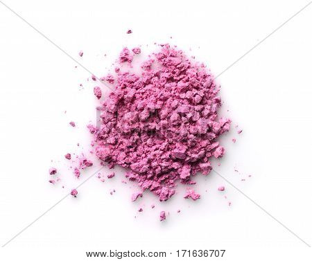 Pink Powder Eyeshadow For Makeup As Sample Of Cosmetic Product