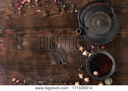 Assortment Of Tea As Background