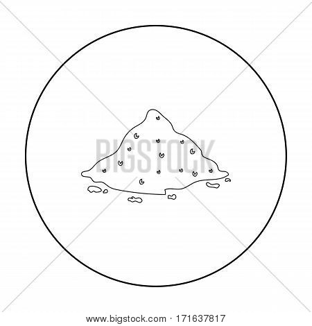 Cocain icon in outline style isolated on white background. Drugs symbol vector illustration.