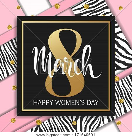 8 March abstract design. International Womens Day Background.