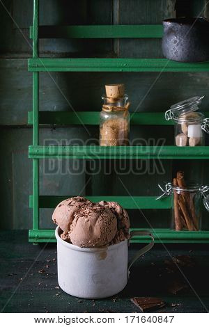 Mug With Chocolate Ice Cream