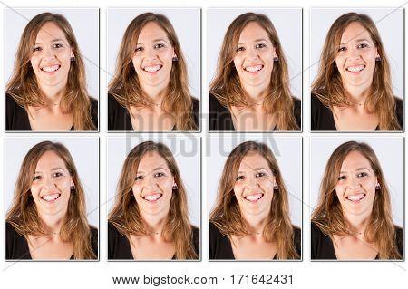 a woman Official photos for international passport
