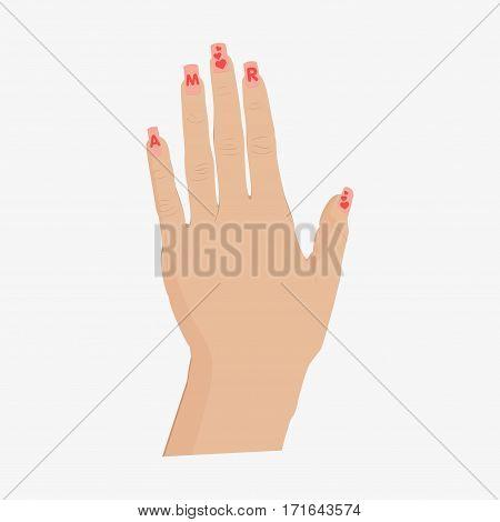 Hand Vector Illustration