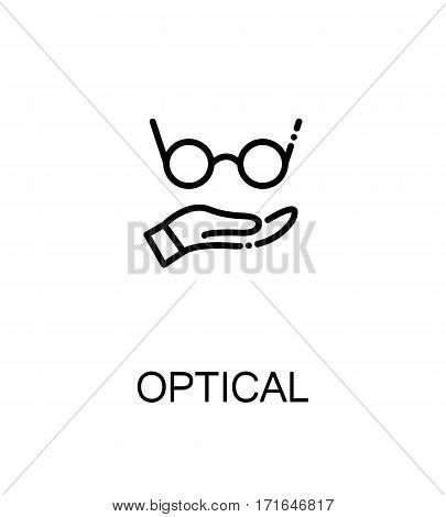 Optical icon. Optical single high quality outline symbol for web design or mobile app. Thin line sign for design logo. Black outline pictogram on white background