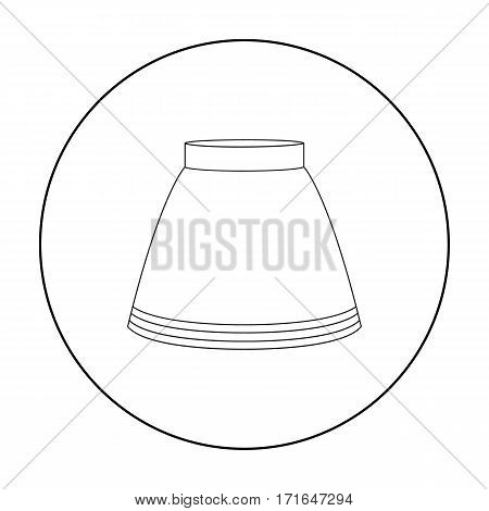 Skirt icon of vector illustration for web and mobile design