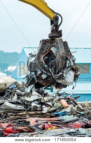 Metal Scrap Yard Crane