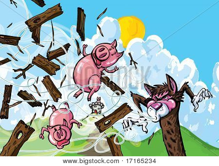 Cartoon Of Three Pigs