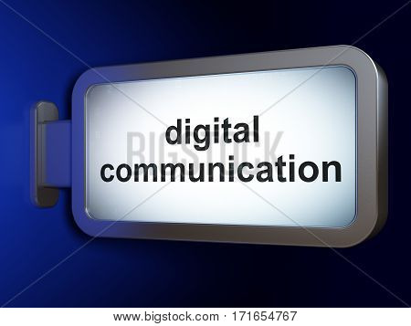 Information concept: Digital Communication on advertising billboard background, 3D rendering