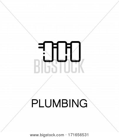 Plumbing icon. Single high quality outline symbol for web design or mobile app. Thin line sign for design logo. Black outline pictogram on white background