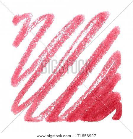 Red marker pen doodle - raster illustration