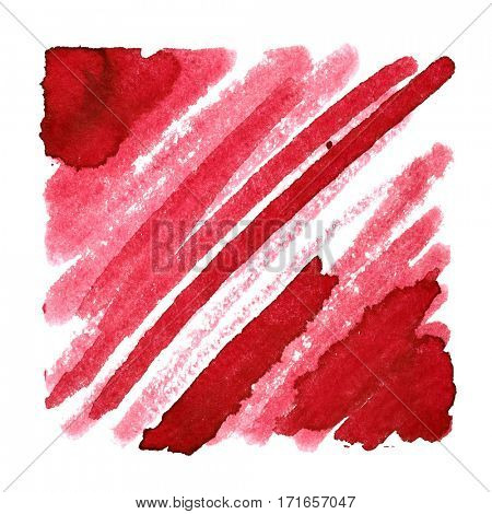 Red abstract background with slanting thick strokes - space for your own text - raster illustration