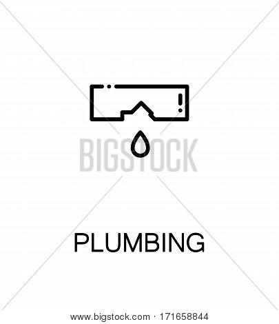 Plumbing icon. Single high quality outline symbol for web design or mobile app. Thin line sign for design logo. Black outline pictogram on white background
